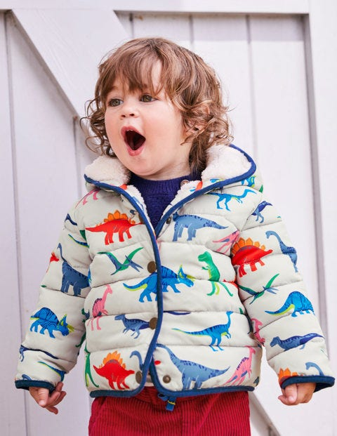 Babysaurus Padded Coat - Shale Grey Toy Dinos