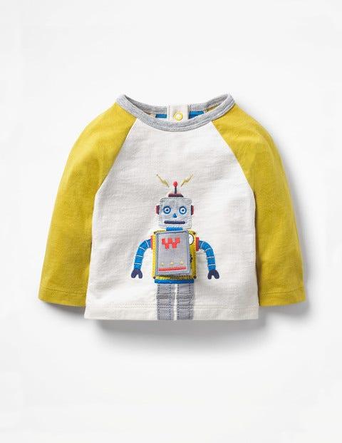 Appliqué Toy T-Shirt - Ivory Robot