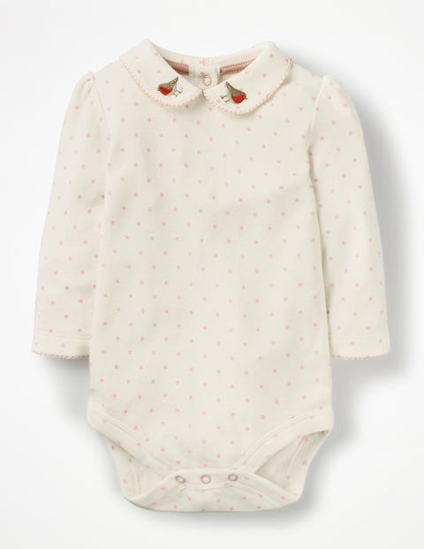 Pretty Collared Bodysuit - Provence Dusty Pink Spot
