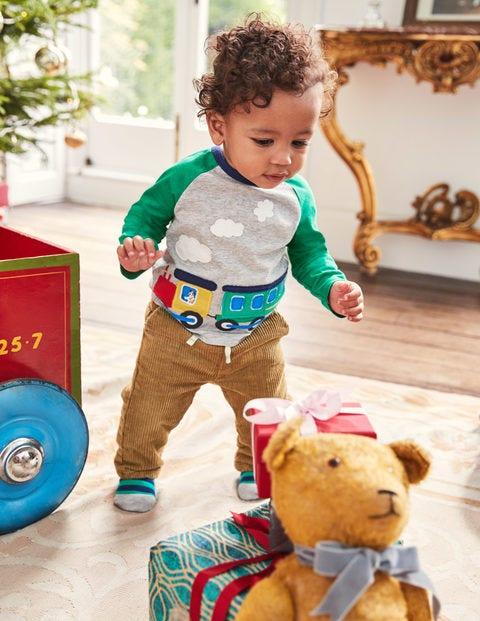 Appliqué Toy T-Shirt - Grey Marl Train