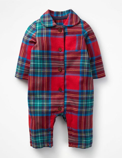 Checked Flannel All-In-One - Salsa Red Check