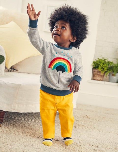 Cosy Sweatshirt - Grey Marl Rainbow