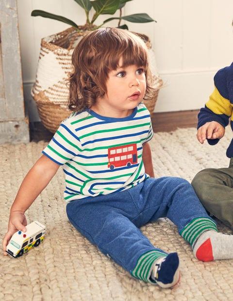 Stripy Transport T-Shirt - Duke Blue/Astro Green Bus