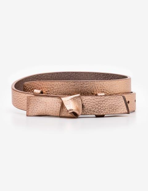 Sena Waist Belt - Rose Gold Metallic