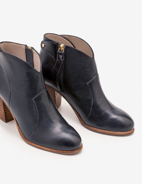 Hoxton Ankle Boots - Navy