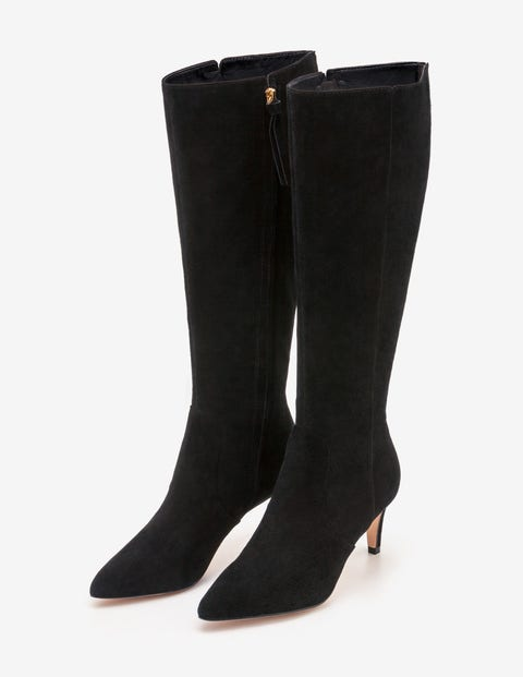 Ledbury Knee High Boots - Black