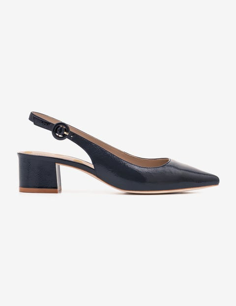 Annie Pointed Slingbacks - Navy