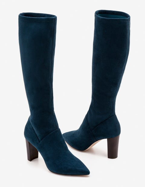 Pointed Stretch Boots - Seaweed