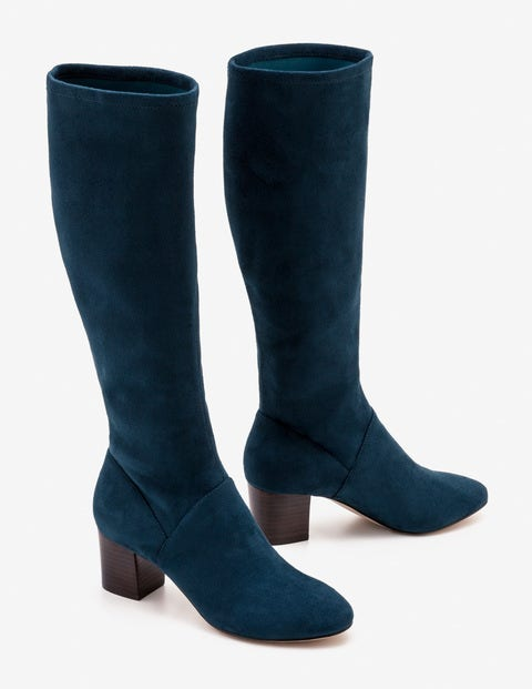 Round Toe Stretch Boots - Seaweed