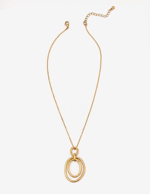 Geometric Pendant - Antique Gold Metallic