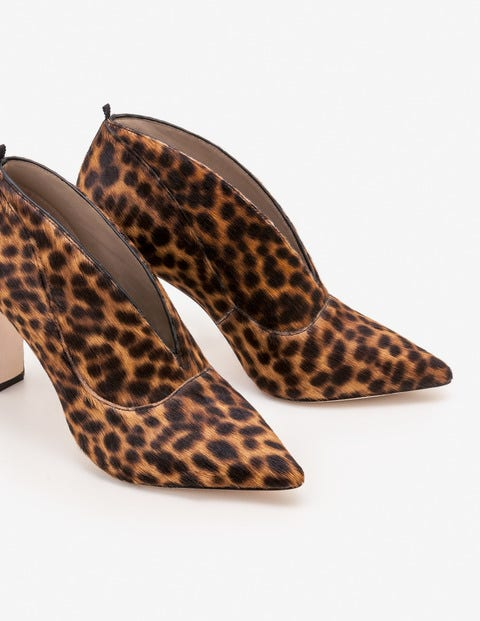 Roseberry Heeled Boots - Tan Leopard