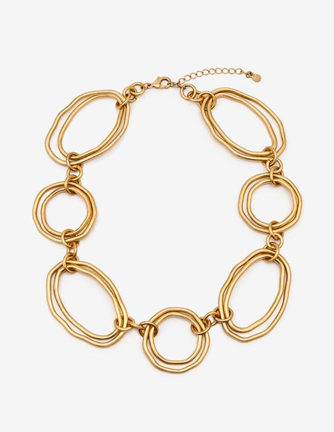 Geometric Necklace - Antique Gold Metallic