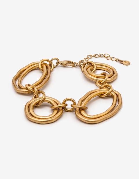 Geometric Bracelet - Antique Gold Metallic