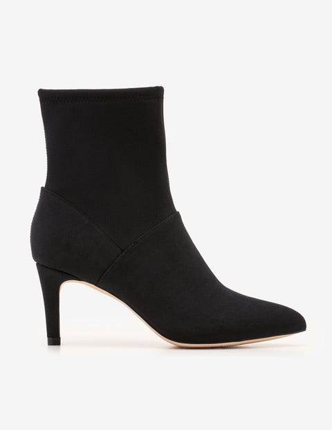 Ankle Stretch Boots - Black