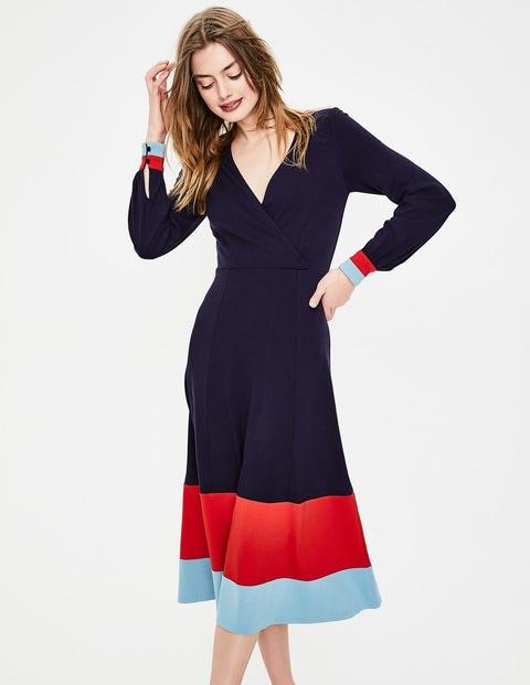 Magnolia Jersey Midi Dress - Navy