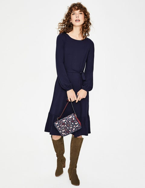 Holly Jersey Dress - Navy