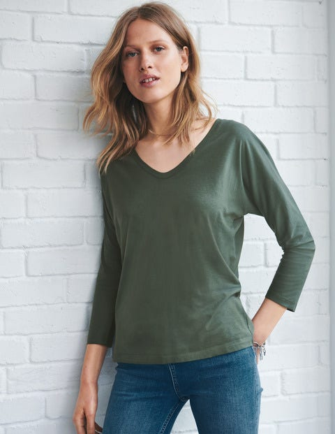 Supersoft Relaxed Voop Tee - Pine Tree