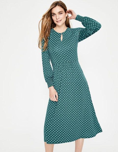 Eliza Jersey Midi Dress - Seaweed Bud