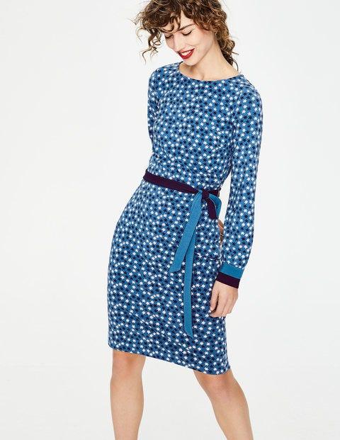 Fawn Jerseykleid - Blau, Sterne