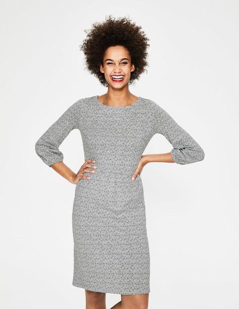 Odelia Jersey Dress - Grey Marl Scattered Stars