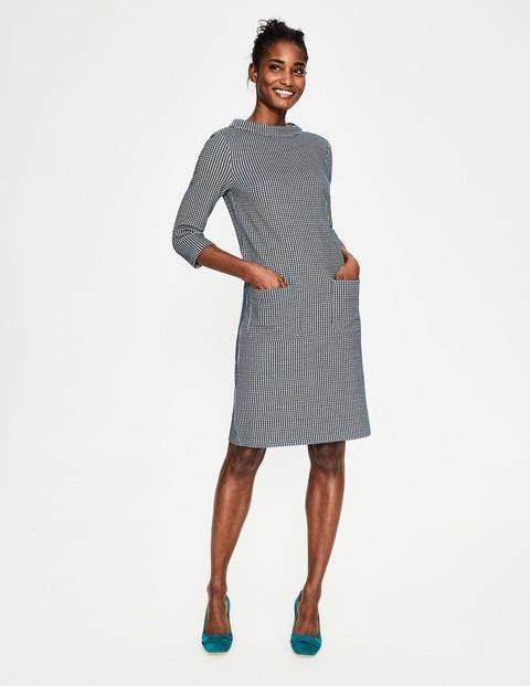 Opal Jersey Jacquard Dress - Seaweed/Milkshake