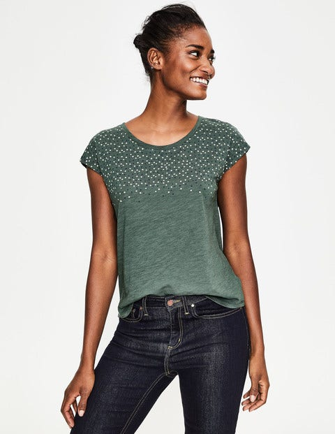 Robyn Jersey Tee - Pine Tree Scattered Stars