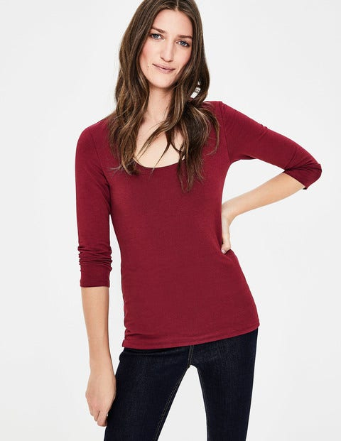Double Layer Front Tee - Mulled Wine