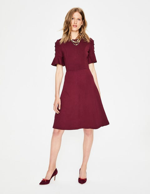 Alexis Jersey Dress - Mulled Wine