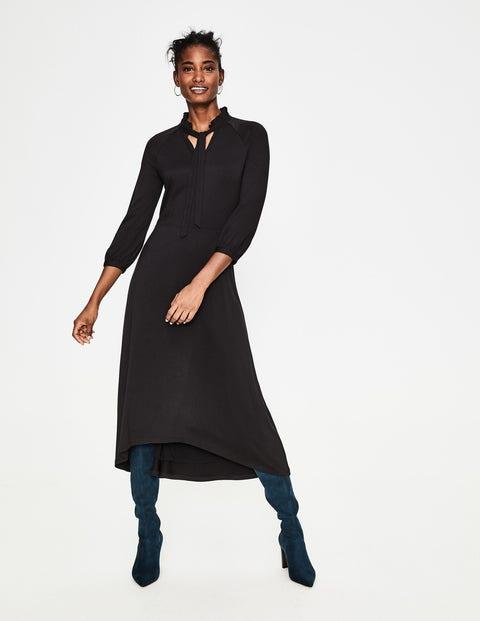Rosa Jersey Midi Dress - Black