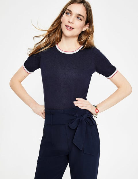 Favourite Knitted Top - Navy
