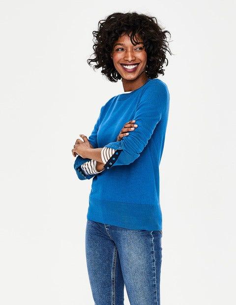 Tilda Crew Neck Sweater - Cyan