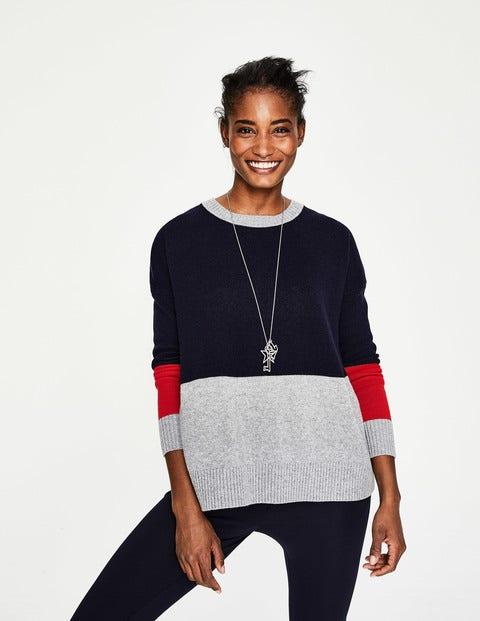 Lowick Sweater - Navy Colourblock