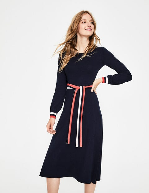 Eden Knitted Dress - Navy