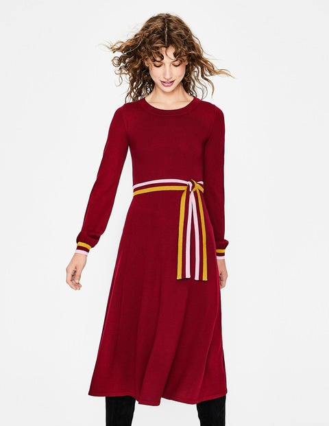 Eden Knitted Dress - Mulled Wine