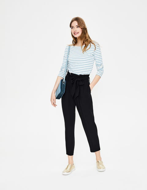 Melina Paperbag Trousers - Black