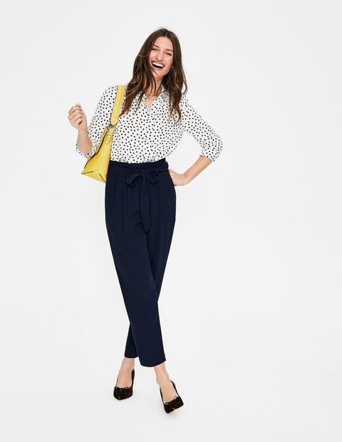 Melina Paperbag Trousers - Navy