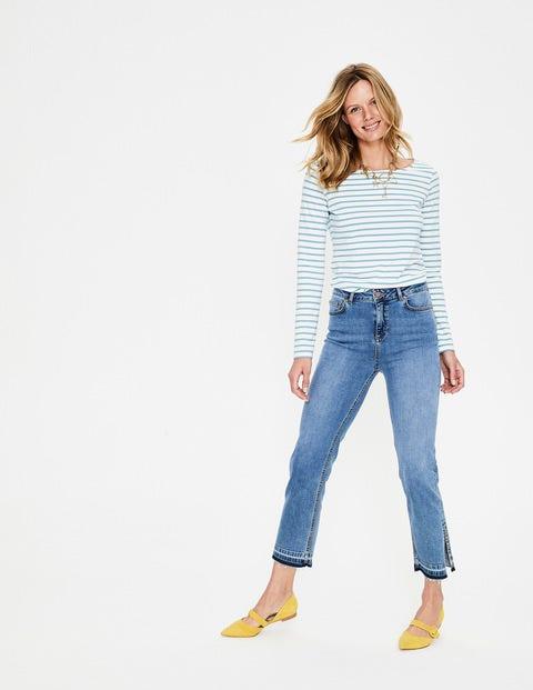 Boden Salisbury Jeans mit Seitenschlitzen Denim Damen Boden schwarz |