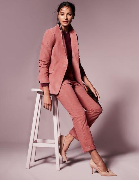 Cord Straight Leg Trousers - Blush