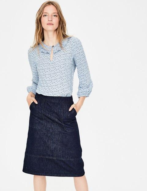 Burston Skirt - Rinse Indigo