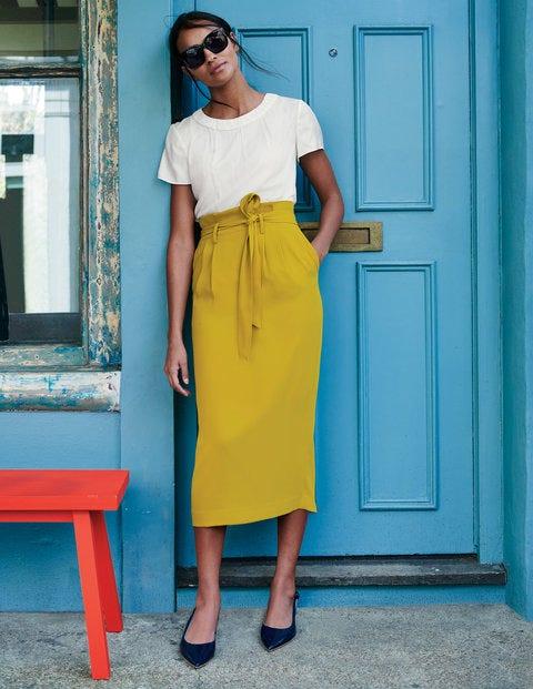 Melina Paperbag Skirt - Hot Mustard