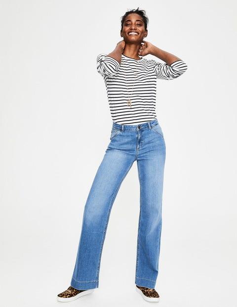 Boden Windsor Jeans mit weitem Bein Denim Damen Boden, Denim  |
