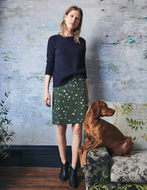 Tilda Embroidered Skirt - Star Emb