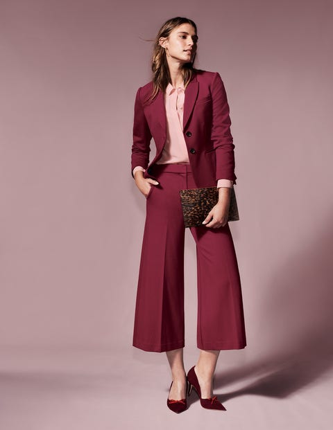 Hampshire Culottes Aus Ponte-Roma-Jersey - Weinrot