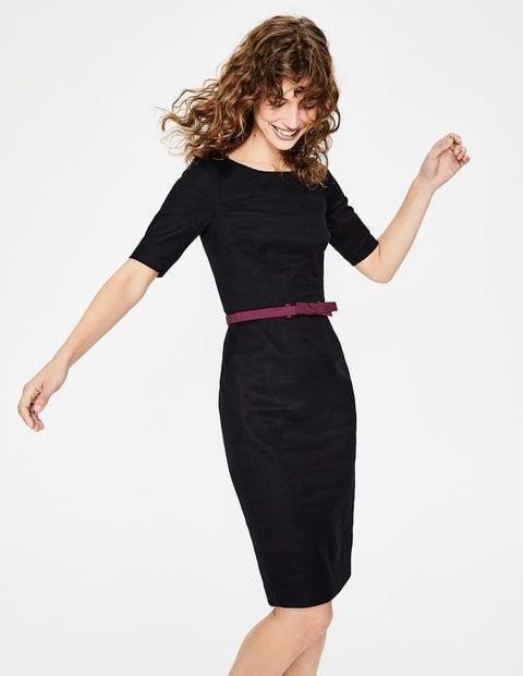 Fleur Fitted Dress - Black