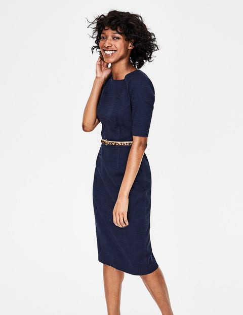 Fleur Fitted Dress - Navy