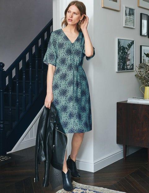 Truro Dress - Heritage Blue Flower Burst