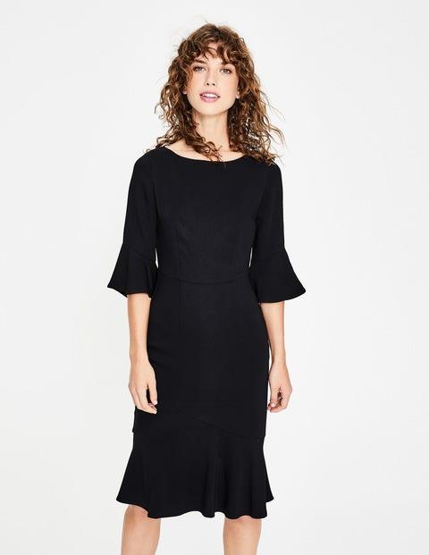 1930s Dresses | 30s Art Deco Dress Flippy Pencil Dress Black Women Boden Black £110.00 AT vintagedancer.com