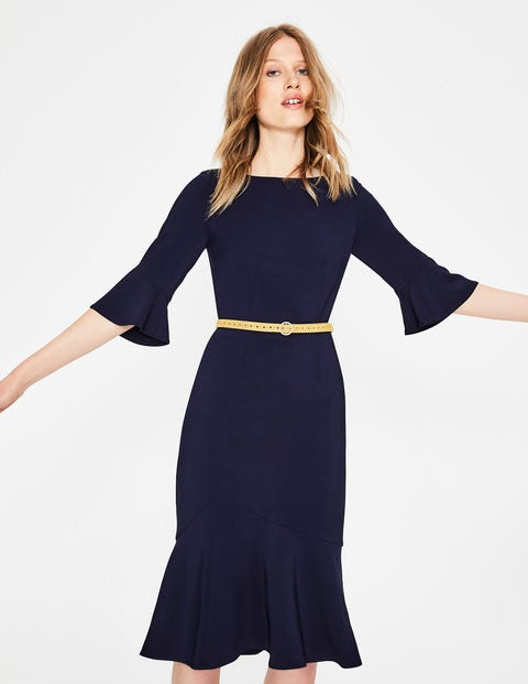Flippy Pencil Dress - Navy