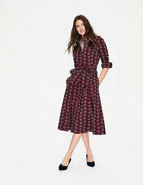 Roseland Shirt Dress - Mulled Wine Climbing Vine
