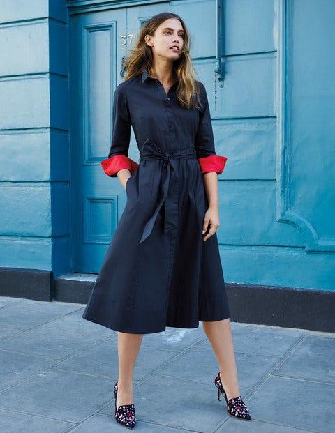 Roseland Shirt Dress - Navy
